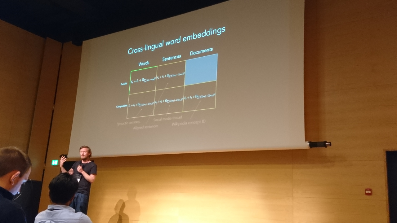 Søgaard: Multilingual embeddings.